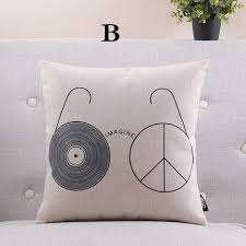 band the beatles pillow for home decor let it be linen cushion