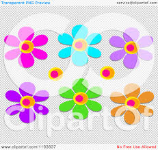 cartoon of colorful flowers royalty free vector clipart by