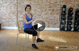 Armchair Aerobics For Elderly 12 Minute Seated Core Workout Video