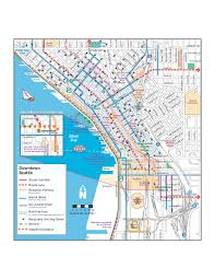 seattle map downtown seattle bikeways map seattle wa mappery