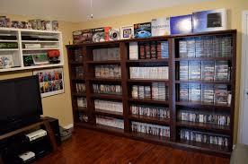 gaming room video game shelves via racketboy user 8bit gaming