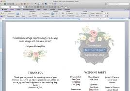 word template for wedding program printable flower garden wedding program the budget savvy