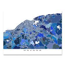 Map Cuba Havana Map Print Cuba U2013 Maps As Art