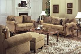Loveseat Throw Cover Tan Fabric Traditional Sofa U0026 Loveseat Set W Throw Pillows