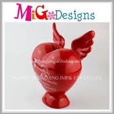 heart shaped piggy bank ceramic dog bank piggy bank money box money bank