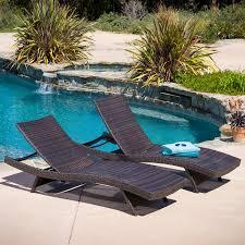 Walmart Pool Chairs Hamlin Outdoor Brown Wicker Lounge Chairs Set Of 2 Walmart Com