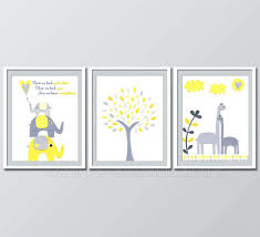 Yellow Gray Nursery Decor Wall Arts Yellow Wall Uk Yellow And Gray Canvas Yellow