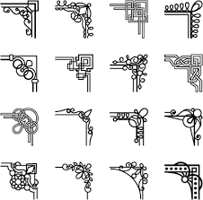 simple corner ornaments vector vector ornament free