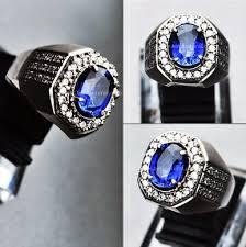 model cincin blue safir batu blue safir asli