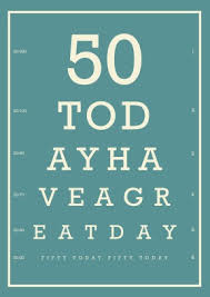 eye chart 50th birthday 50th birthday card scribbler cards