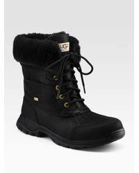 s ugg lace up boots ugg s butte boots brown mount mercy