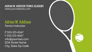 instructor business cards for tennis clubs schools and coaches