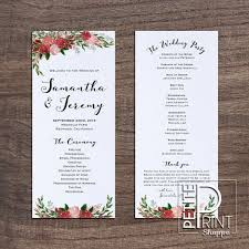 wedding programs printable wedding program templates archives chryssa wedding