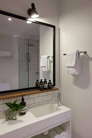 Black Mirror Bathroom Small Wood Shelf Mirror Hassell Projects Ovolo Laneways