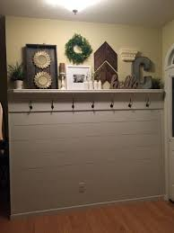 shiplap entryway with shelf and hooks garage doors pinterest