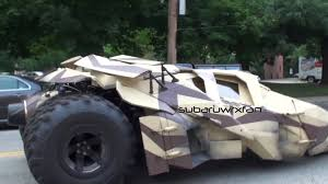 batman real car 3 tumblers batmobile driving on the streets youtube