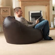 buy xxl bean bags u0027man size u0027 faux leather beanbagbazaar