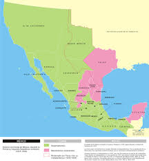 map of mexico 1821 the national era its impact on 1821 1836 study com