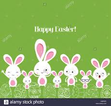 happy easter rabbit and eggs background stock vector art