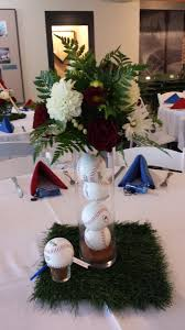 baseball centerpieces take me out to the for a wedding reception rosie s