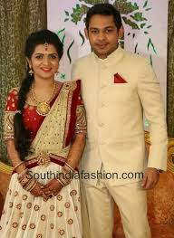 Reception Sarees For Indian Weddings Anchor Divyadarshini Wedding Reception U2022 South India Fashion