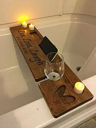 Wine Glass Holder For Bathtub Personalized Bathtub Wine Caddy Bath Wine Glass Holder Wine