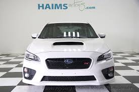 subaru white 2017 2017 used subaru wrx sti manual at haims motors serving fort