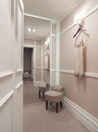panelled walls to the fitting rooms were designed to create an