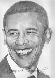 barack obama by karen townsend from well known figures