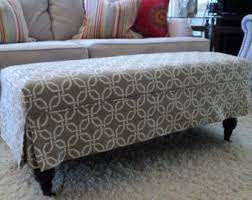 How To Make An Upholstered Ottoman by Chairs U0026 Ottomans Etsy