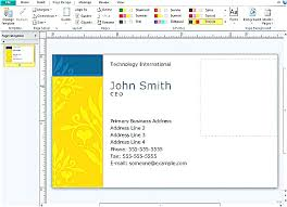 microsoft business card template creating cards publisher adorable