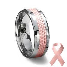 carbon fiber wedding rings tungsten carbide ring pink carbon fiber inlay pink wedding ring