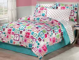 girls teal bedding amazon com my room peace out girls comforter set with bedskirt