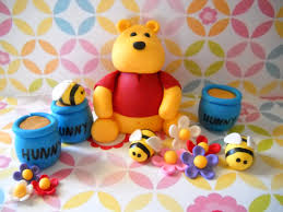 winnie the pooh inspired edible cake topper set by sugarartbytami