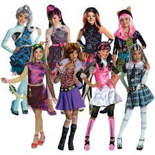 girls monster high halloween kids fancy dress costume book
