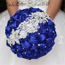 blue wedding bouquets aliexpress buy 2016 royal blue wedding flowers bouquets