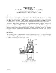 design of the subsea tree pdf download available