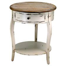 Rustic End Tables Olevi Rustic Ivory Wood End Table Kathy Kuo Home
