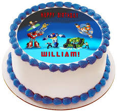 transformers birthday cakes transformers rescue bots 1 edible cake or cupcake topper edible