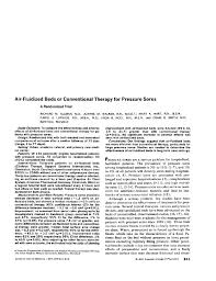 Air Fluidized Bed Air Fluidized Beds Or Conventional Therapy For Pressure Soresa