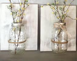 Hanging Glass Wall Vase Hanging Mason Jar Decor Mason Jar Wall Sconce Candle Holder