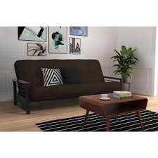 Futon Frame And Mattress Dhp Nadine Black Espresso Futon Frame 2101959 The Home Depot