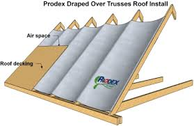 how to install insulation on a roof how to install prodex
