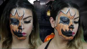 makeup artist halloween jack o lantern makeup look halloween 2015 youtube