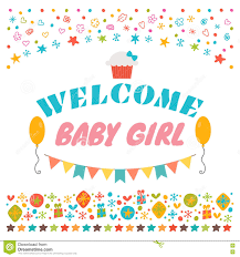 welcome baby announcement card baby shower greeting card