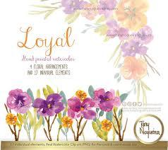 watercolor floral wedding elements clipart png vintage flowers