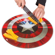 buy captain america shield cutting board weird and funny stuff
