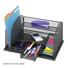 Safco Desk Organizers Onyx Organizer With 3 Drawers Safco Products