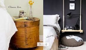 contemporary bedroom ideas with solid wood cheese box night stand