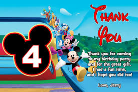 mickey mouse thank you cards mickey mouse birthday party invitations